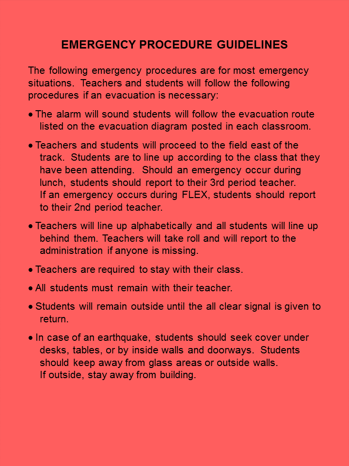 Emergency Policies